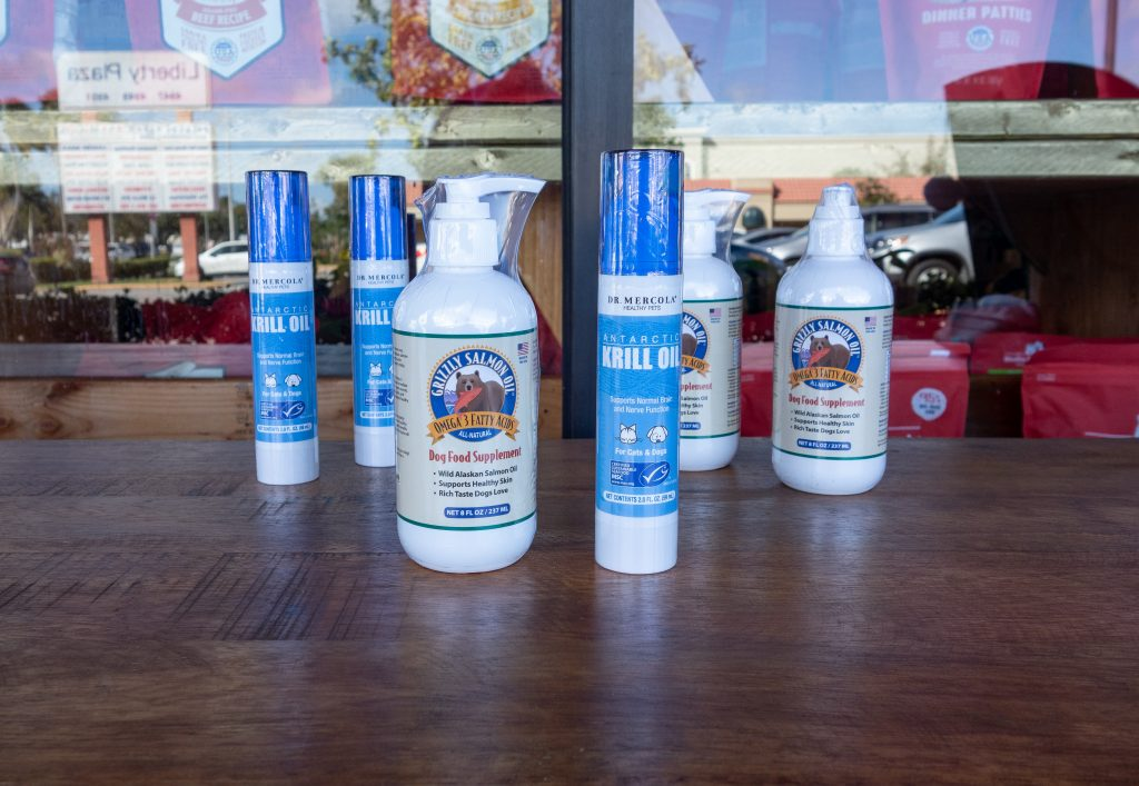Salmon oil and krill oil for dogs