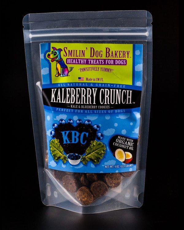 Kaleberry Crunch - 4oz all natural & grain free dog treats - kale & blueberry cookies | Smilin' Dog Bakery, LLC.