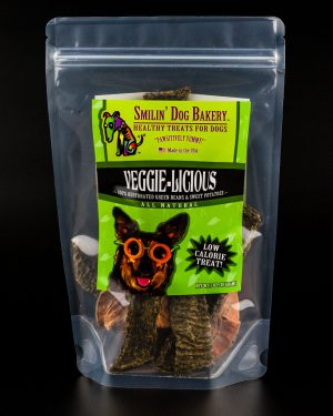 Veggie-Licious - 1oz all natural & grain free dog treats - 100% dehydrated green beans & sweet potatoes | Smilin' Dog Bakery, LLC.
