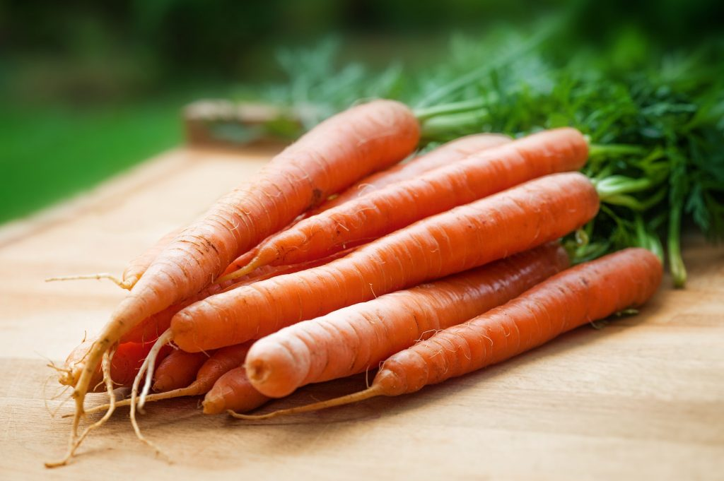 Carrots pictured