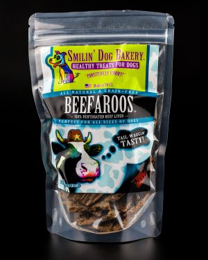 Beefaroos - 4oz all natural & grain free dog treats - 100% dehydrated beef liver | Smilin' Dog Bakery, LLC.