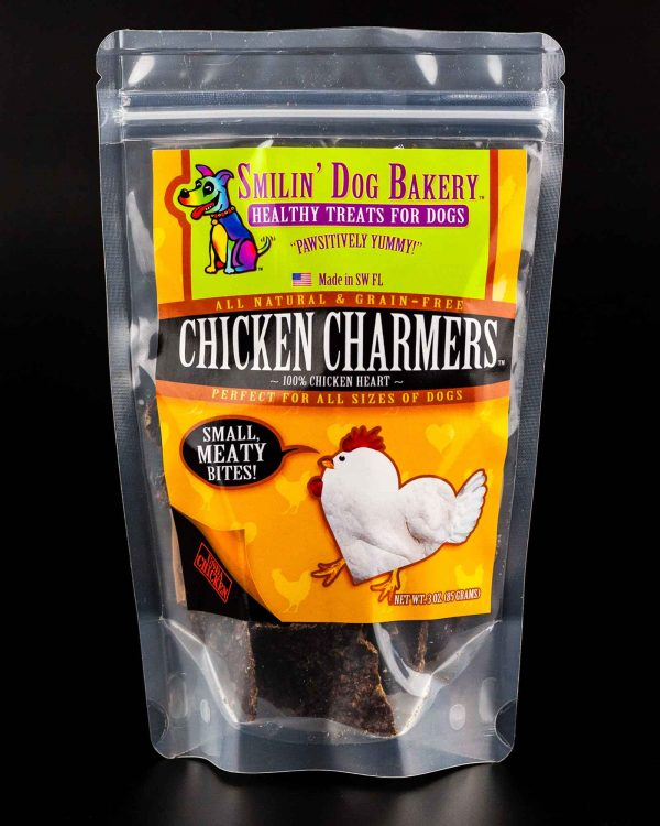 Chicken Charmers - 3oz all natural & grain free dog treats - 100% chicken heart | Smilin' Dog Bakery, LLC.
