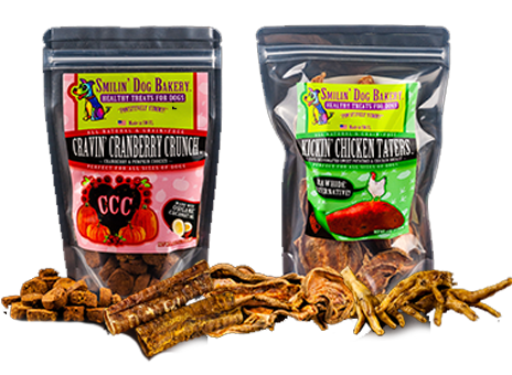 Smilin' Dog Bakery - Healthy Treats for Dogs - Cravin' Cranberry Crunch & Kickin' Chicken Taters   Smilin' Dog Bakery, LLC.