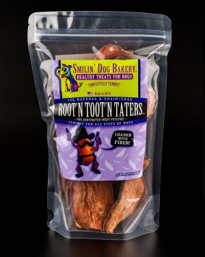 Root'n Toot'n Taters - 4oz all natural & grain free dog treats - 100% dehydrated sweet potatoes | Smilin' Dog Bakery, LLC.