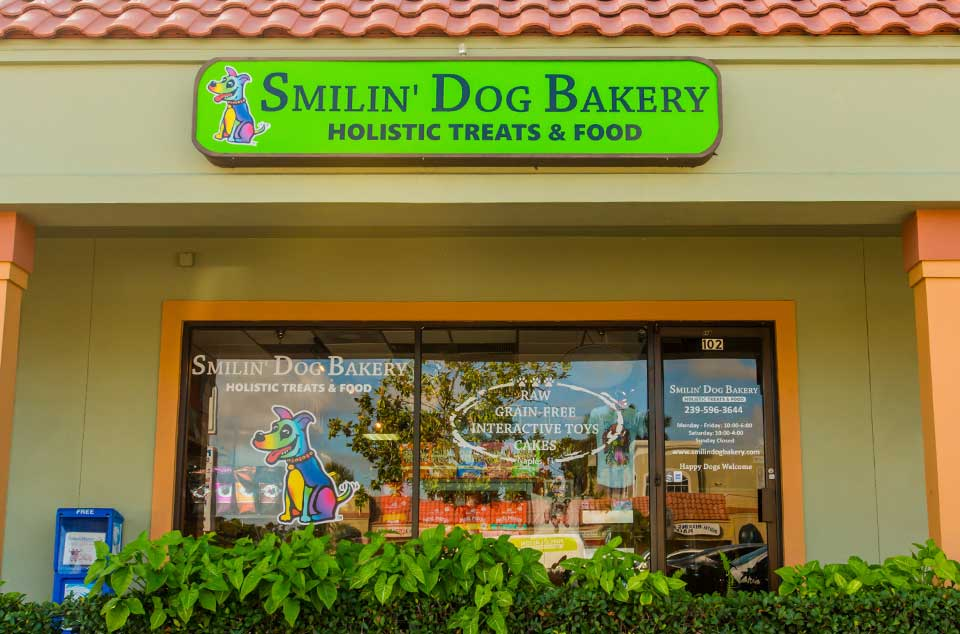 Smilin' Dog Bakery - Healthy Treats for Dogs - Naples, Florida storefront | Smilin' Dog Bakery, LLC.