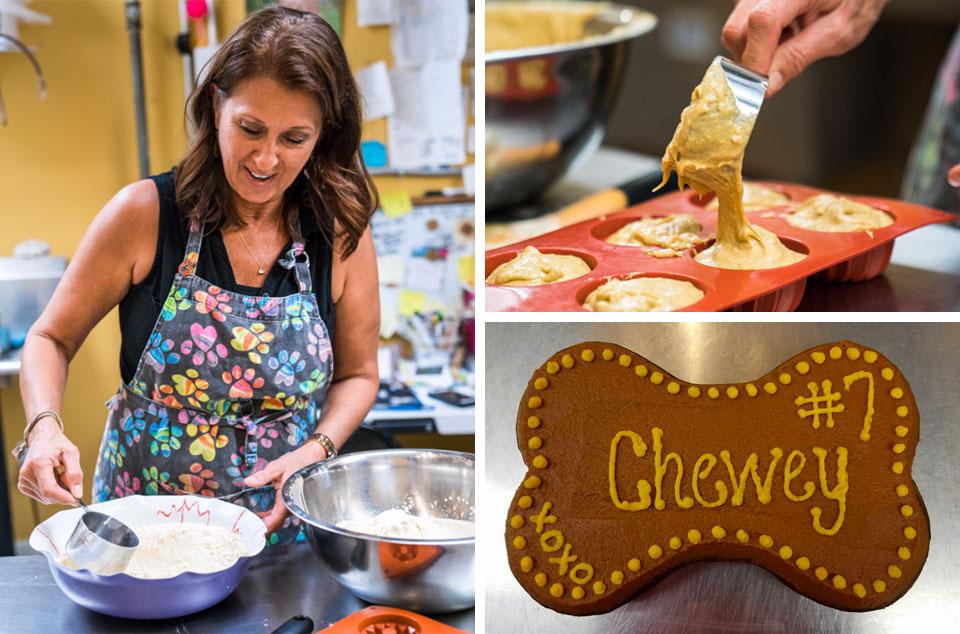 Teresa Hoover baking in Naples Florida dog bakery | Smilin' Dog Bakery, LLC.